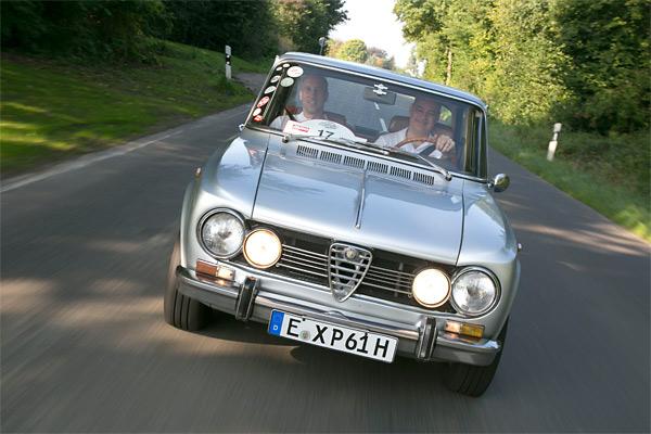Expert Yourself bei einer Oldtimer Rallye mit der Alfa Romeo Guilia